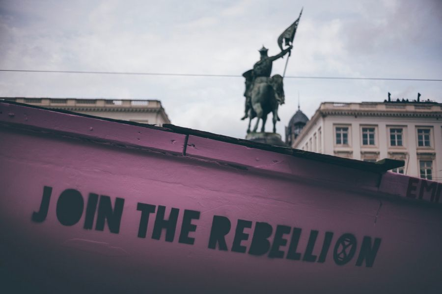 Rejoindre la Rebellion: le bateau à l'action Royal Rebellion par Extinction Rebellion Belgique le 12 octobre 2019