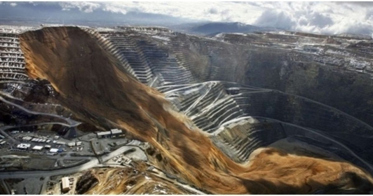 Mine de cuivre dans l'Utah (États-Unis). SIPA