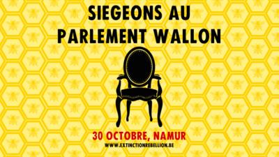 Siégeons au Parlement Wallon, 30 octobre, namur