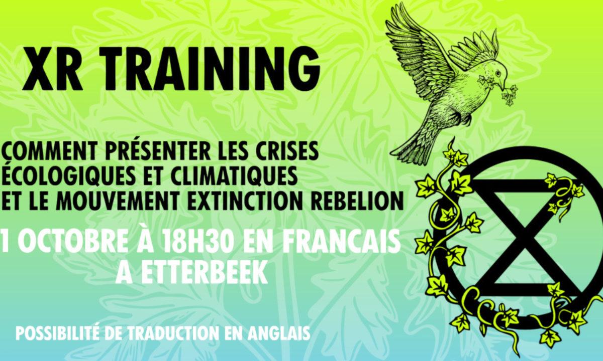 XR Training, lundi 11 octobre à 18H30 à Etterbeek